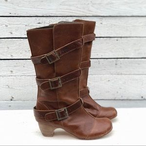 Brown Leather Anthropology Gee WaWa Boots